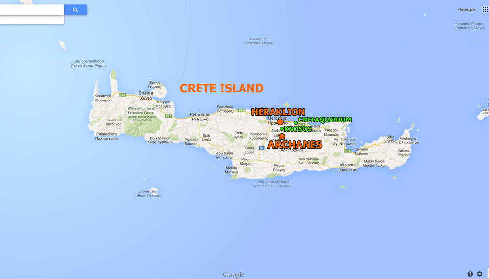 Crete Map Crete Archanes Map Kalimera Archanes