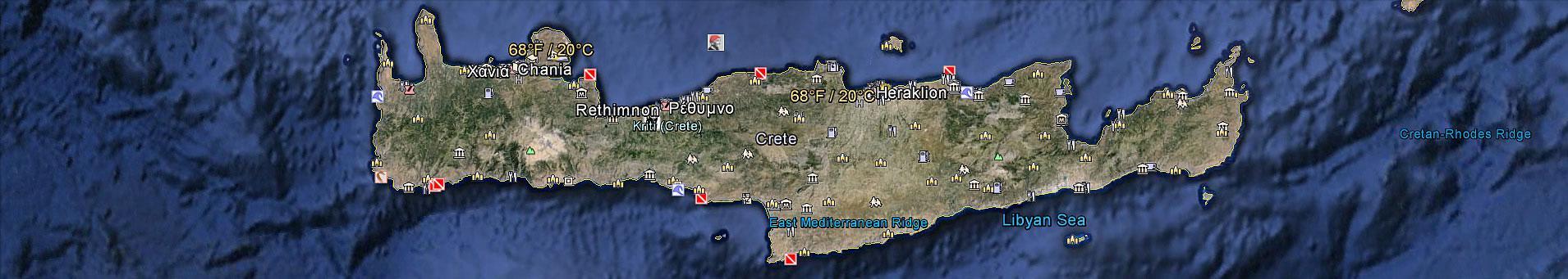 Crete Greece Map